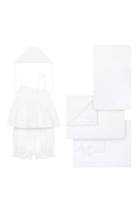 Детского комплект из 6-ти предметов ANGEL WINGS белого цвета, арт. LUX618 | Фото 1