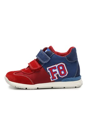 Детские текстильные кроссовки с застежками велькро FALCOTTO красного цвета, арт. 0012013720/01 | Фото 2