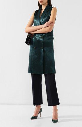 Женские кожаные туфли gianvito 85 GIANVITO ROSSI зеленого цвета, арт. G24580.85RIC.VERLEAF | Фото 2
