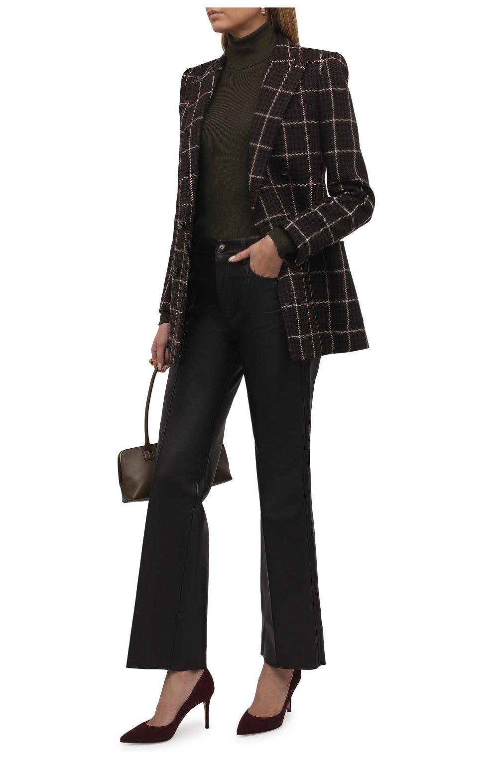 Женские замшевые туфли gianvito 85 GIANVITO ROSSI бордового цвета, арт. G24580.85RIC.CAMR0YA | Фото 2