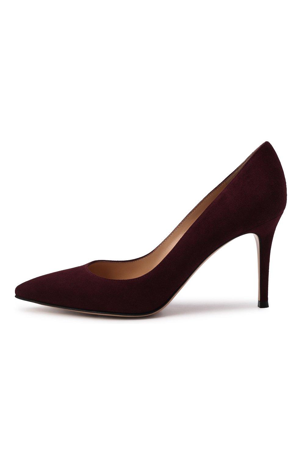 Женские замшевые туфли gianvito 85 GIANVITO ROSSI бордового цвета, арт. G24580.85RIC.CAMR0YA | Фото 4