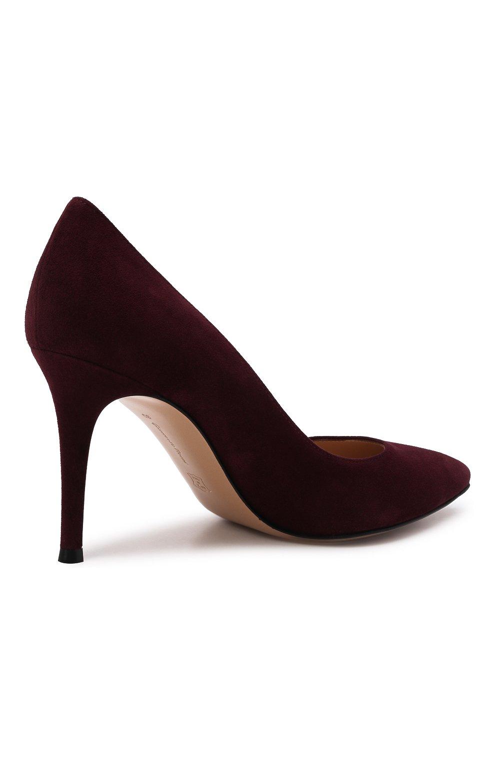Женские замшевые туфли gianvito 85 GIANVITO ROSSI бордового цвета, арт. G24580.85RIC.CAMR0YA | Фото 5