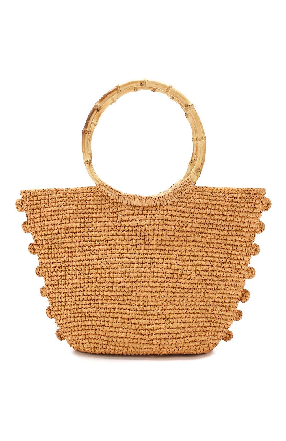 64f4570d8648e Пляжная сумка SENSI STUDIO бежевого цвета — купить за 13250 руб. в ...
