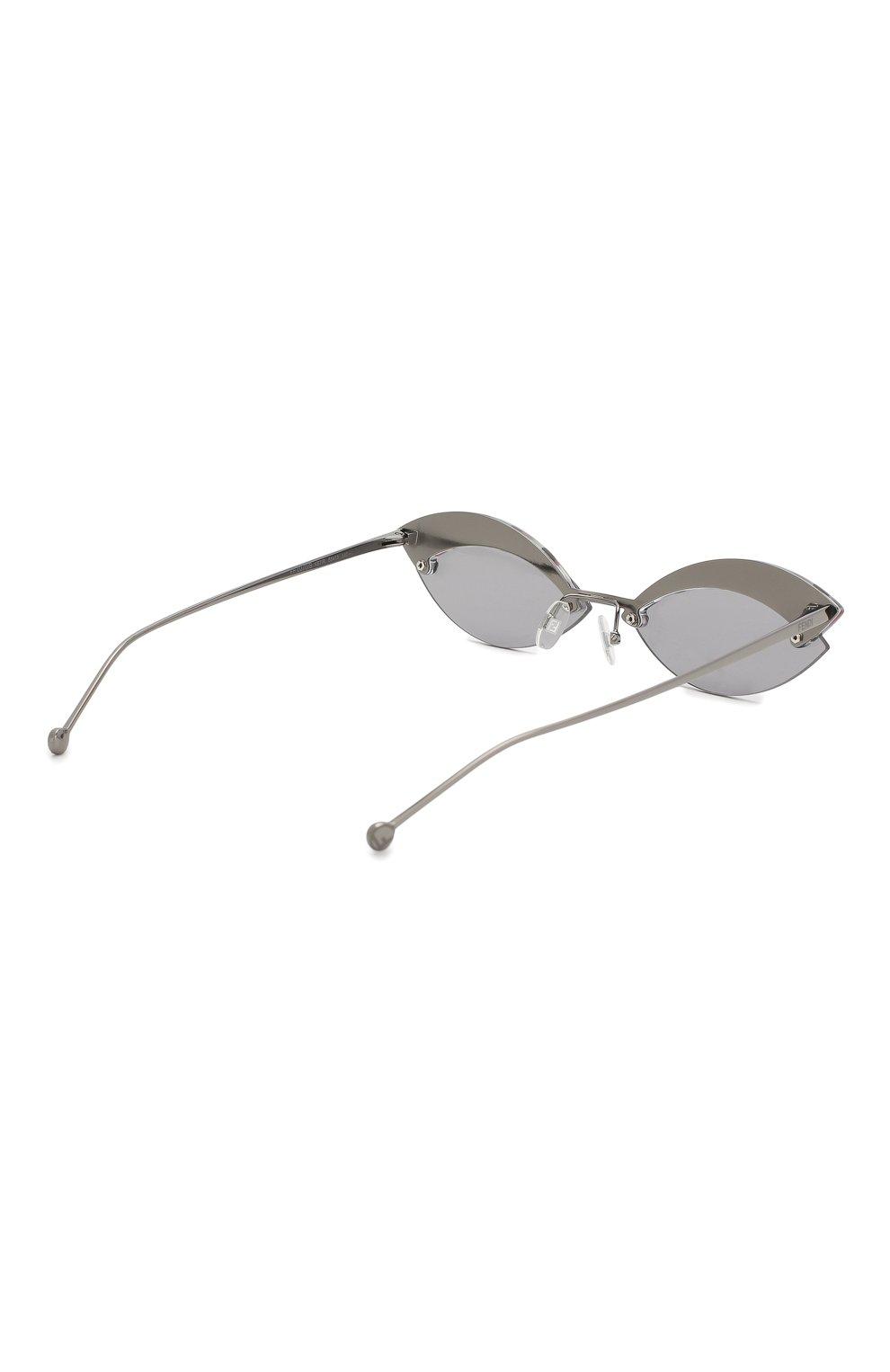 Солнцезащитные очки Fendi серые | Фото №4