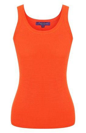 Женская шелковая майка RALPH LAUREN оранжевого цвета, арт. 290736303 | Фото 1