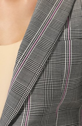 Шерстяной жакет Alexander McQueen серый | Фото №5