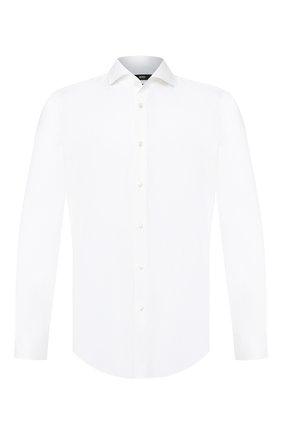 Мужская хлопковая сорочка BOSS белого цвета, арт. 50410521 | Фото 1