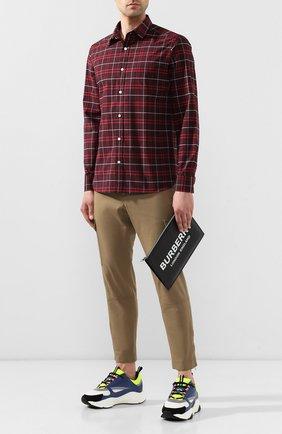 Мужская кожаный клатч BURBERRY черного цвета, арт. 8009214 | Фото 2