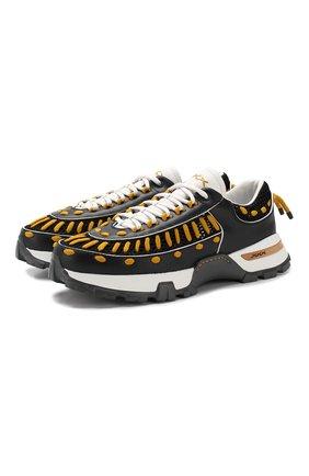 Кожаные кроссовки Claudio | Фото №1