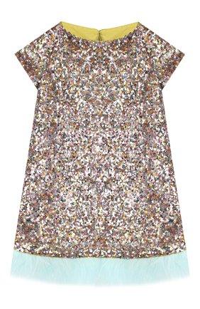 Мини-платье с отделкой | Фото №1