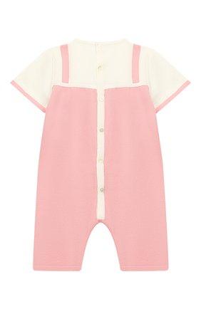 Детский хлопковый комбинезон BABY T розового цвета, арт. 19PE115P | Фото 2