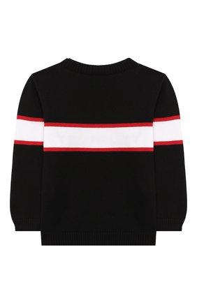 Детский хлопковый пуловер GIVENCHY черного цвета, арт. H05082/6M-18M | Фото 2