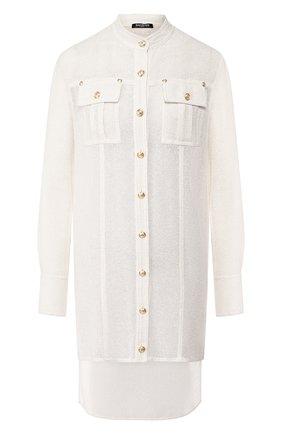 Рубашка из смеси вискозы и льна   Фото №1