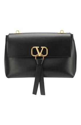 Сумка Valentino Garavani V-Ring medium Valentino черная цвета | Фото №5