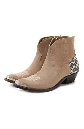 Замшевые ботинки Young | Фото №1