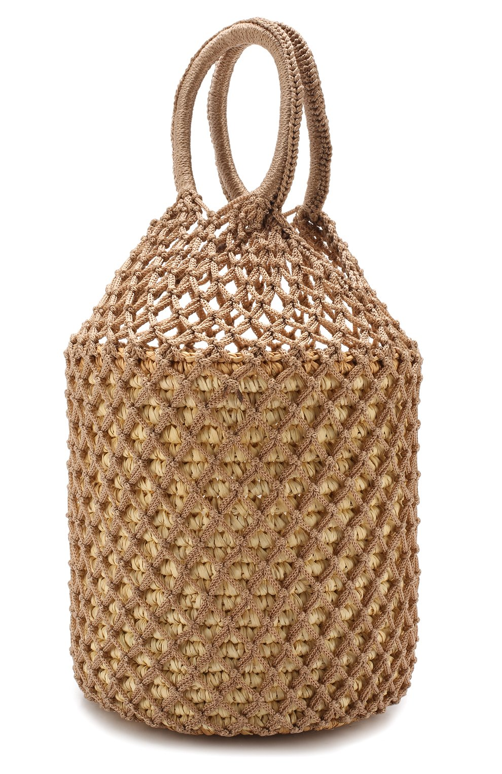 872b45d911e2b Пляжная сумка SENSI STUDIO бежевого цвета — купить за 17200 руб. в ...