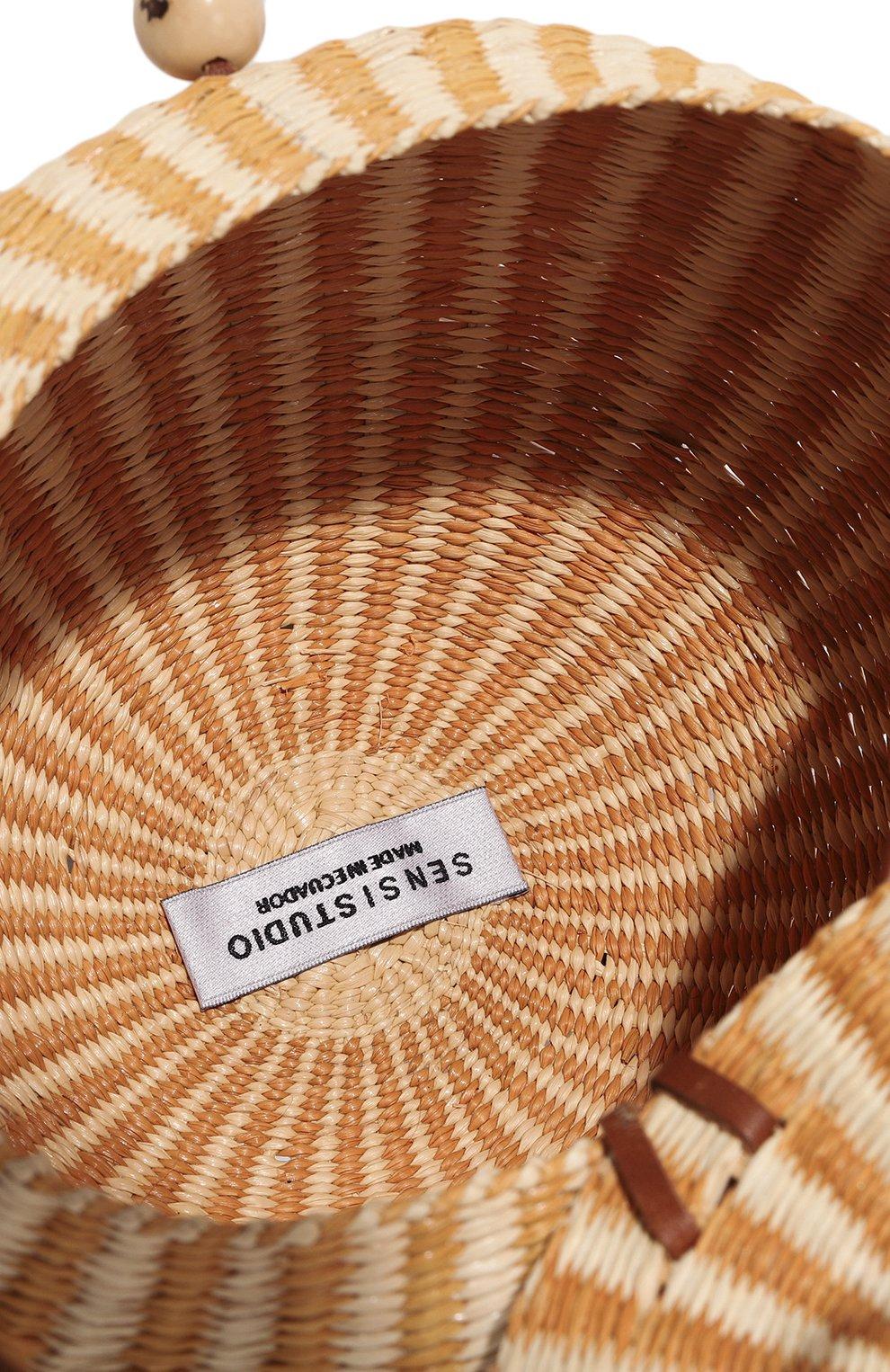 012114a202b77 Пляжная сумка SENSI STUDIO бежевого цвета — купить за 27300 руб. в ...