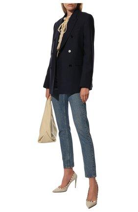 Женская кожаные туфли valentino garavani rockstud VALENTINO белого цвета, арт. SW2S0057/VCE | Фото 2