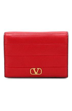 Кожаное портмоне Valentino Garavani Valentino красного цвета | Фото №1