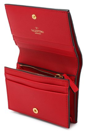 Кожаное портмоне Valentino Garavani Valentino красного цвета | Фото №3