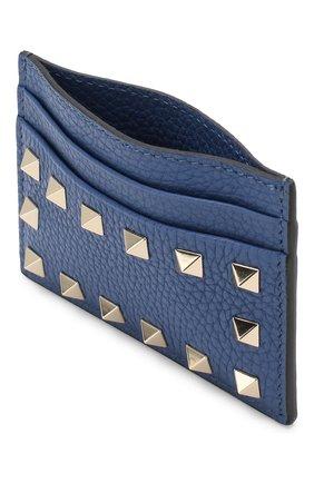 Кожаный футляр для кредитных карт Valentino Garavani Valentino синего цвета | Фото №3