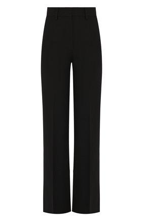 Женские брюки из смеси шерсти и шелка VALENTINO черного цвета, арт. SB3RB3D01CF | Фото 1