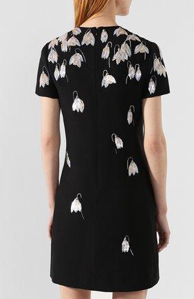 Платье из смеси шерсти и шелка Valentino черное   Фото №4