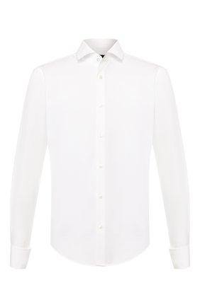 Мужская хлопковая сорочка BOSS белого цвета, арт. 50410614 | Фото 1