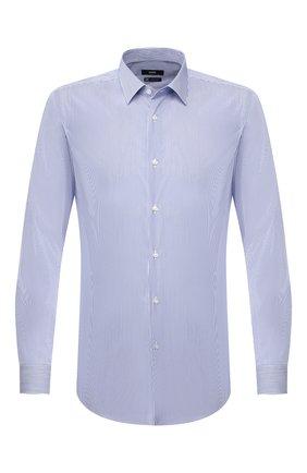 Мужская хлопковая сорочка BOSS синего цвета, арт. 50410515   Фото 1