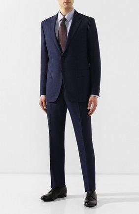Мужская хлопковая сорочка BOSS синего цвета, арт. 50410515   Фото 2