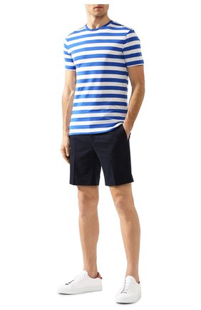 Мужские хлопковые шорты RALPH LAUREN темно-синего цвета, арт. 790595674 | Фото 2