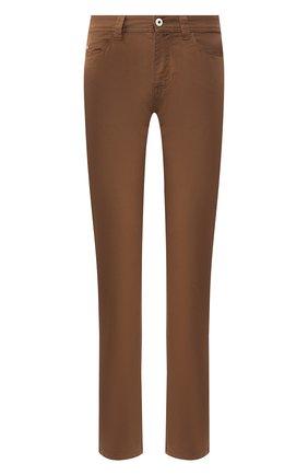Мужские джинсы LORO PIANA коричневого цвета, арт. FAG1317 | Фото 1