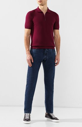 Мужские кожаные кеды RALPH LAUREN фиолетового цвета, арт. 815742232 | Фото 2