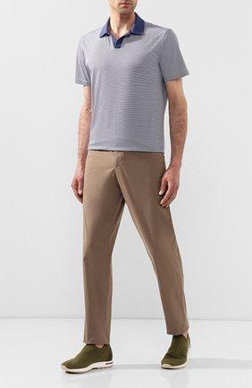Мужские текстильные кроссовки 360 lp flexy active LORO PIANA хаки цвета, арт. FAI4815   Фото 2