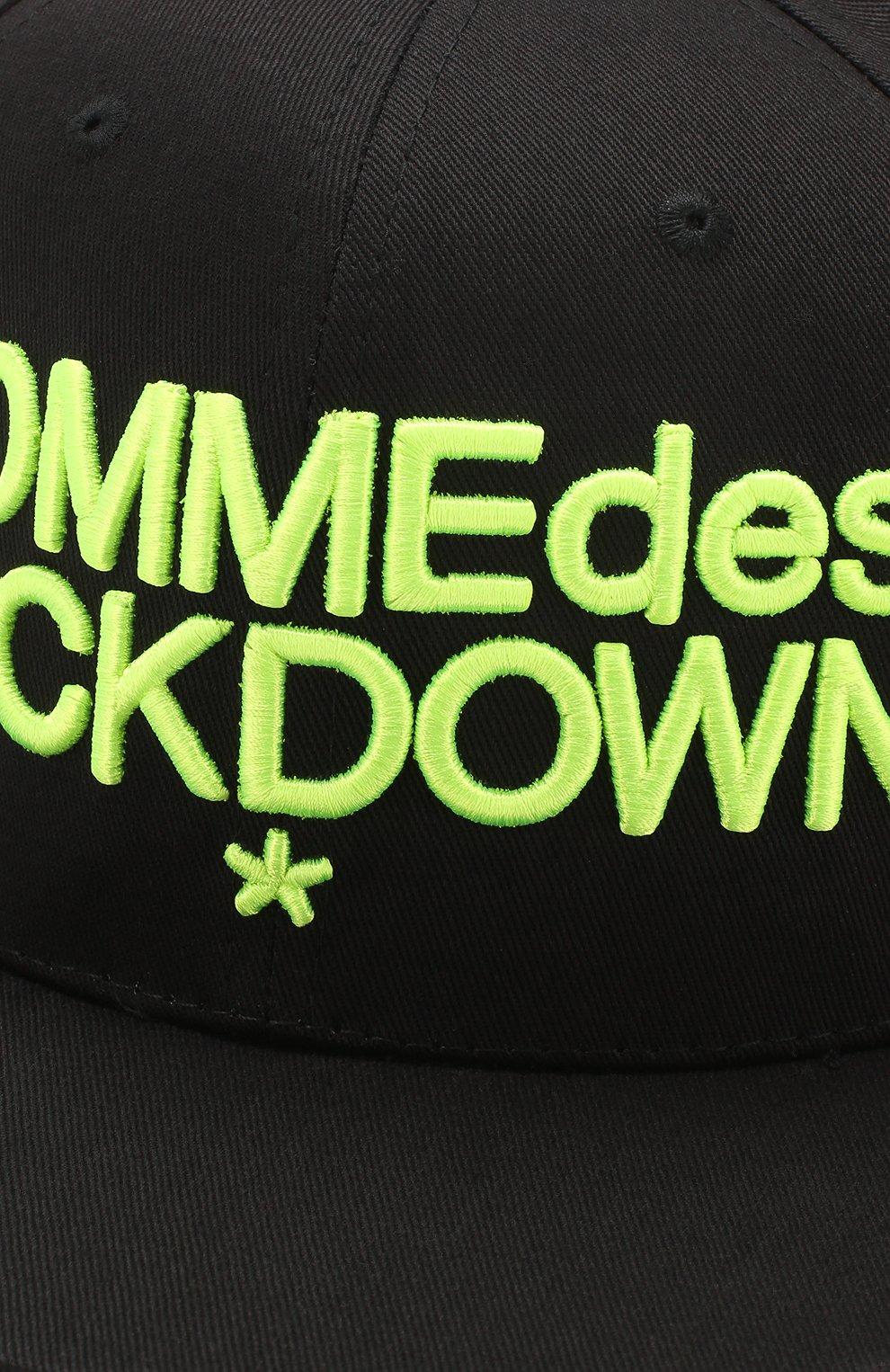 Хлопковая бейсболка Comme des Fuckdown черного цвета   Фото №3