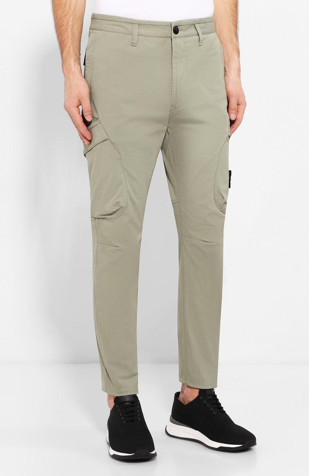 155df283df1 Мужские хаки хлопковые брюки карго STONE ISLAND — купить за 19850 ...