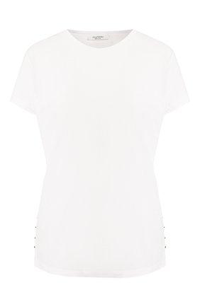 Хлопковая футболка Valentino белая | Фото №1
