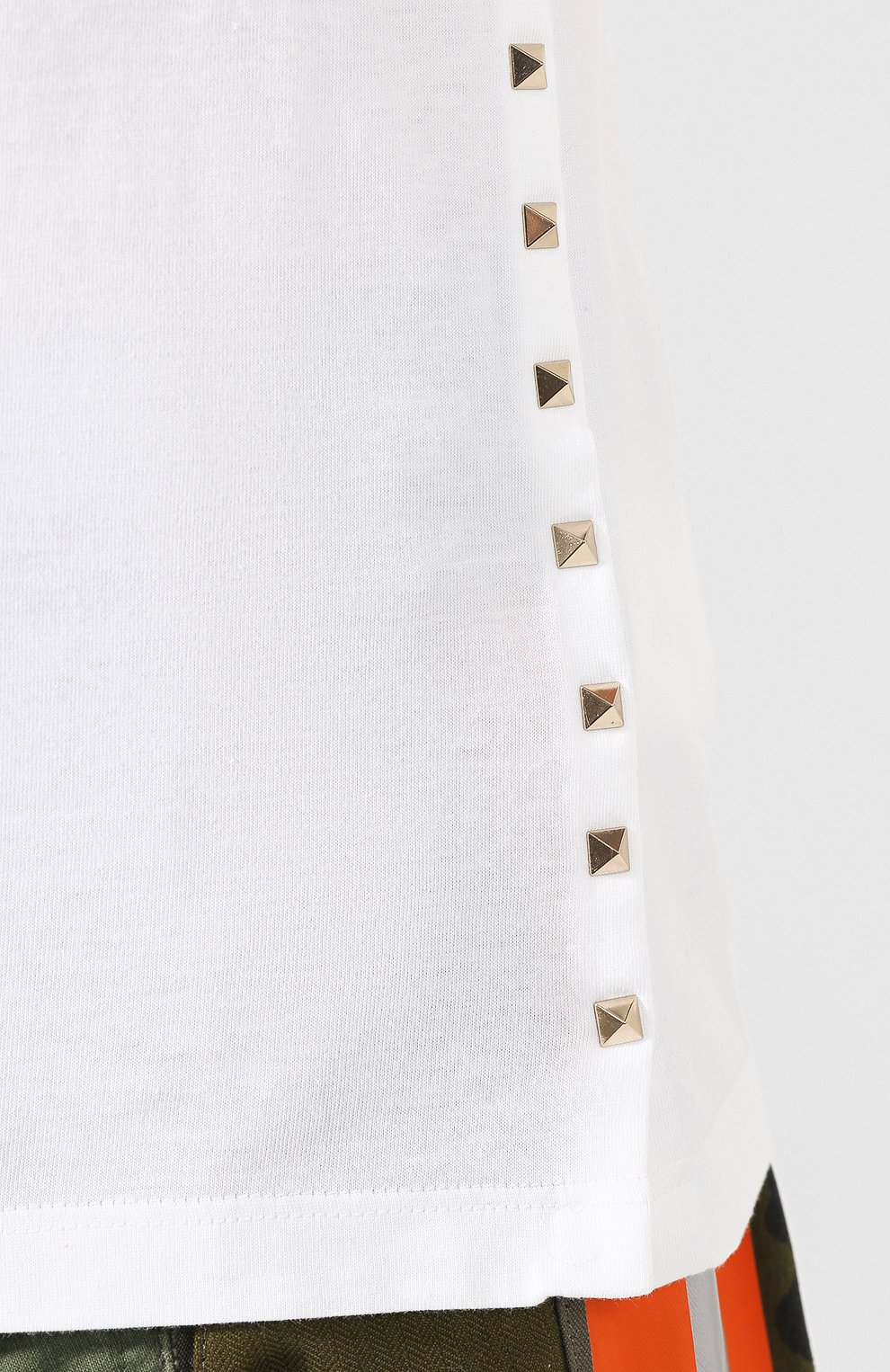 Хлопковая футболка Valentino белая | Фото №5