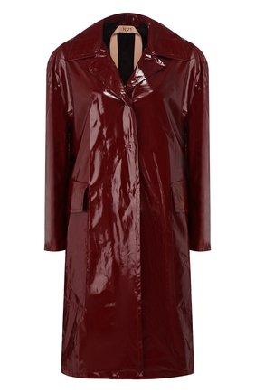Пальто No. 21 бордового цвета | Фото №1