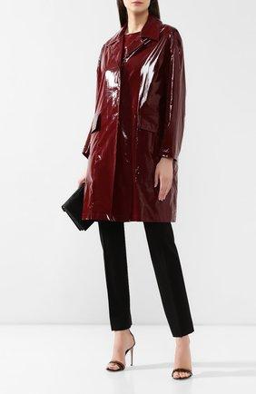 Пальто No. 21 бордового цвета | Фото №2