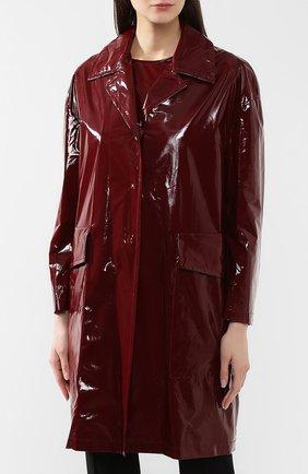 Пальто No. 21 бордового цвета | Фото №3