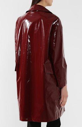 Пальто No. 21 бордового цвета | Фото №4