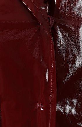 Пальто No. 21 бордового цвета | Фото №5