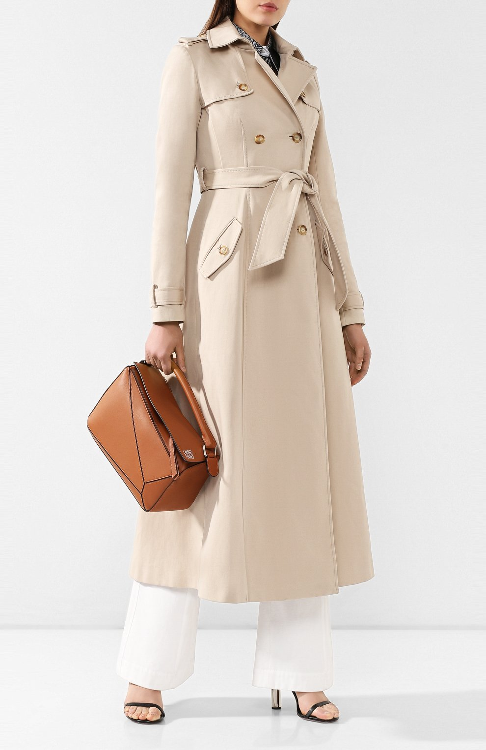 Хлопковое пальто Gabriela Hearst бежевого цвета | Фото №2