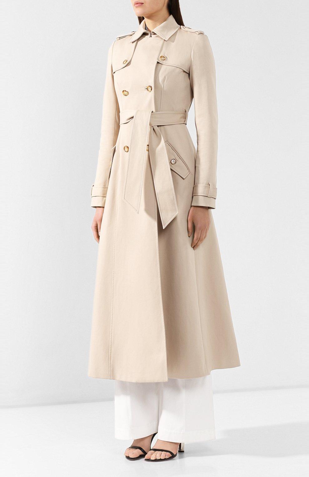 Хлопковое пальто Gabriela Hearst бежевого цвета | Фото №3