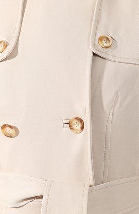 Хлопковое пальто Gabriela Hearst бежевого цвета | Фото №5