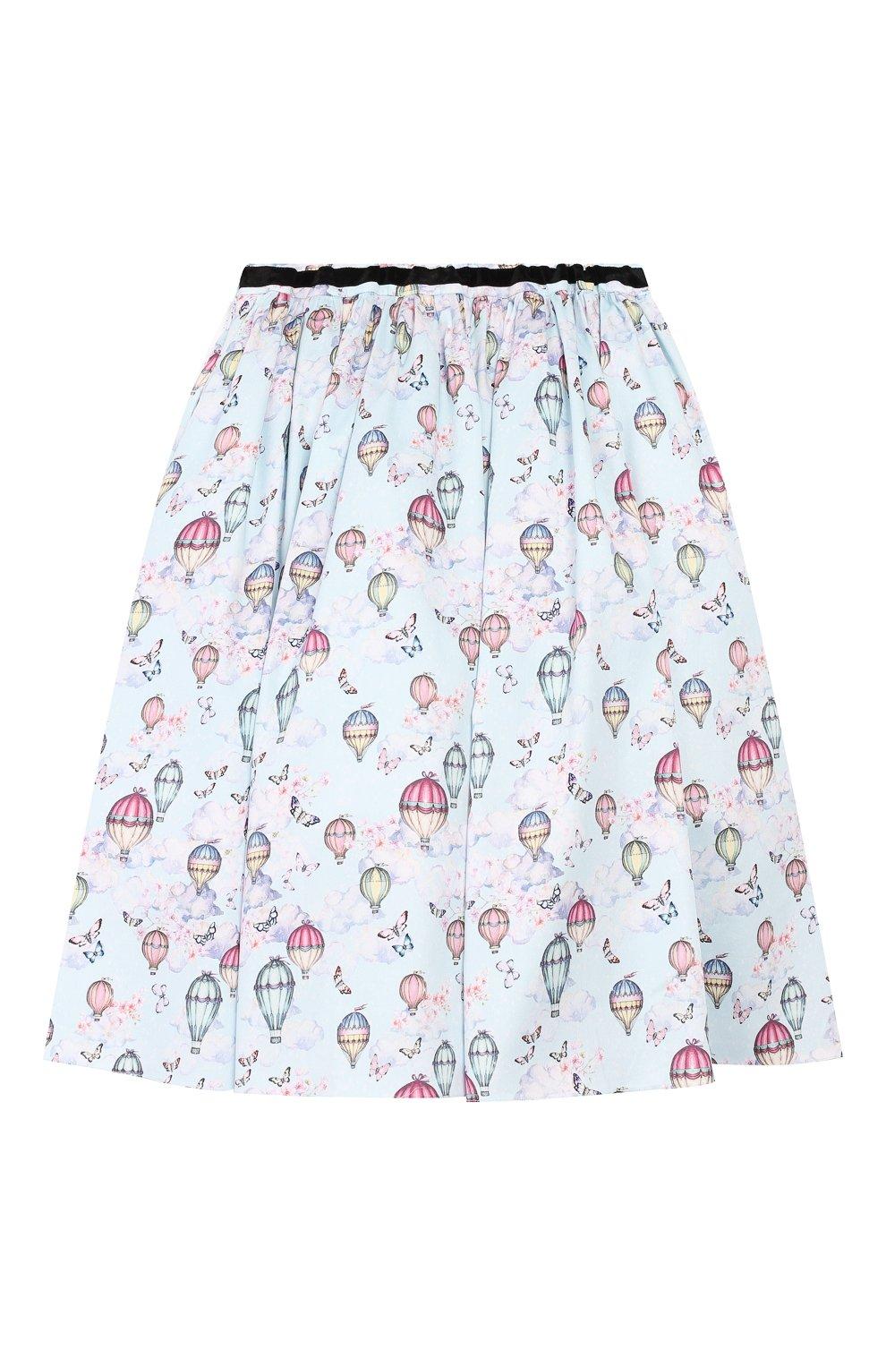 Детская хлопковая юбка Aristocrat Kids разноцветного цвета   Фото №2