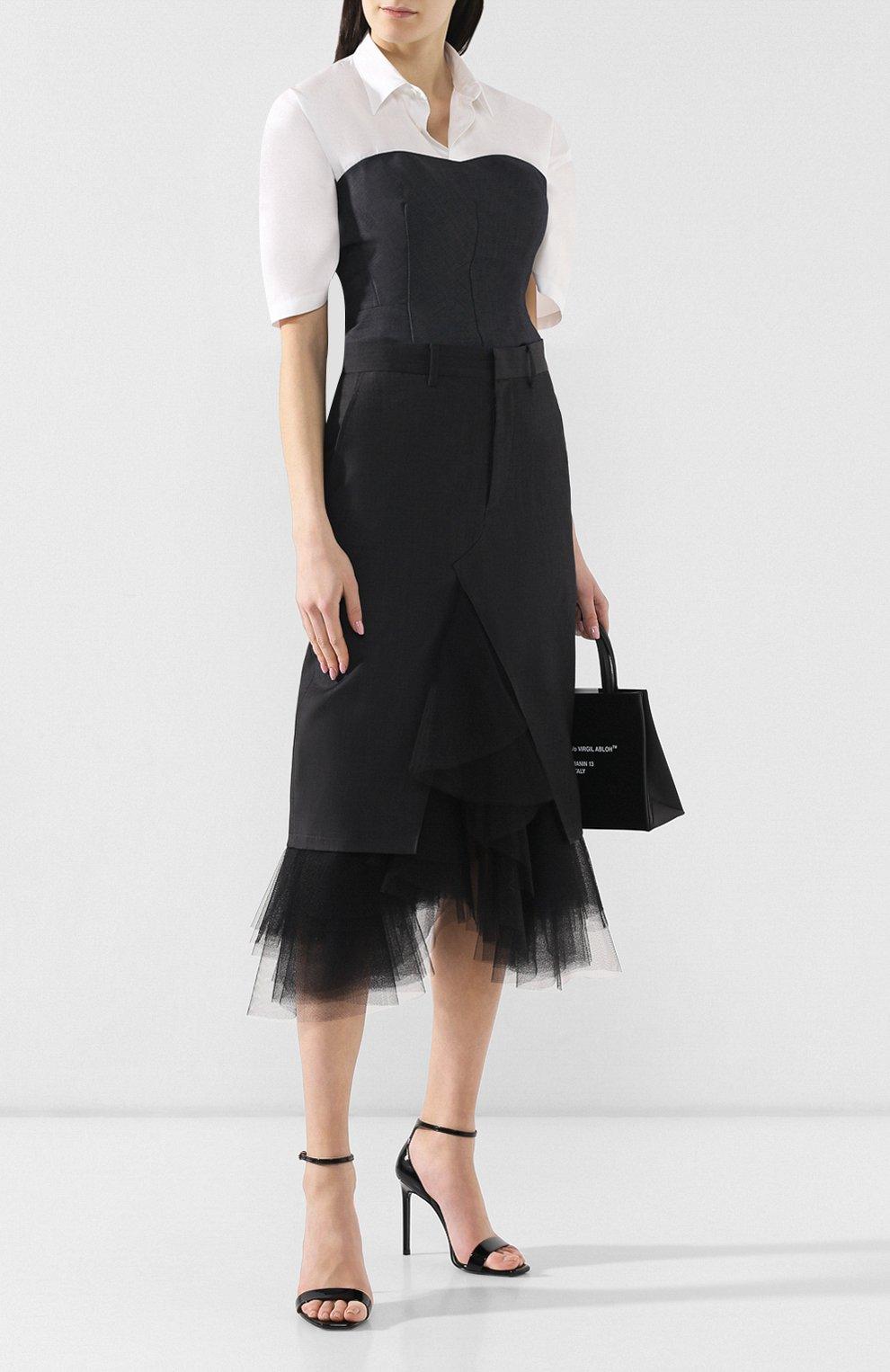 Шерстяная юбка Junya Watanabe темно-серая | Фото №2