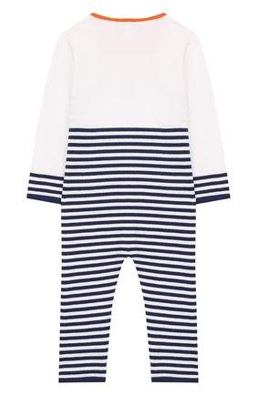 Детский хлопковый комбинезон BABY T синего цвета, арт. 19PE131T | Фото 2