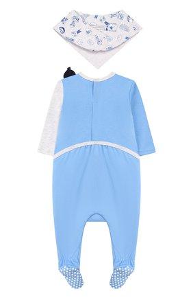 Детский комплект из пижамы и нагрудника MARC JACOBS (THE) голубого цвета, арт. W98124 | Фото 2